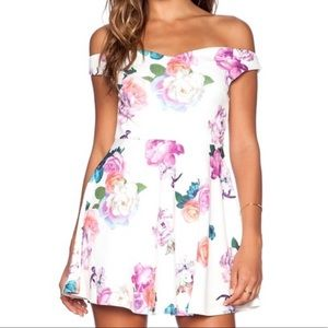 Minkpink floral fit and flare